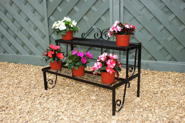 Solid Steel Two Tier Pot Stand-0