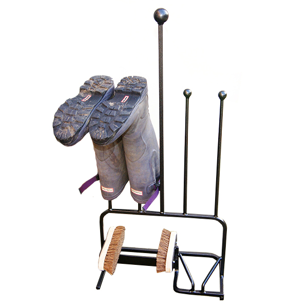Solid Steel 2 Pair Boot Stand with Brushes