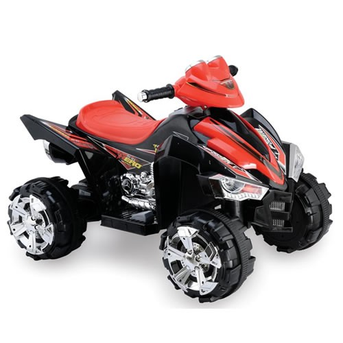 Predatour 12v Electric Ride on Quad Bike - Black-0