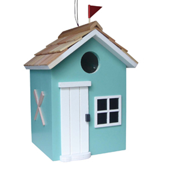 Turquoise Beach Hut Bird House