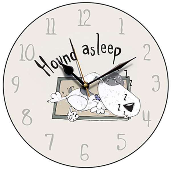 'Hound Asleep' Dog Wall Clock