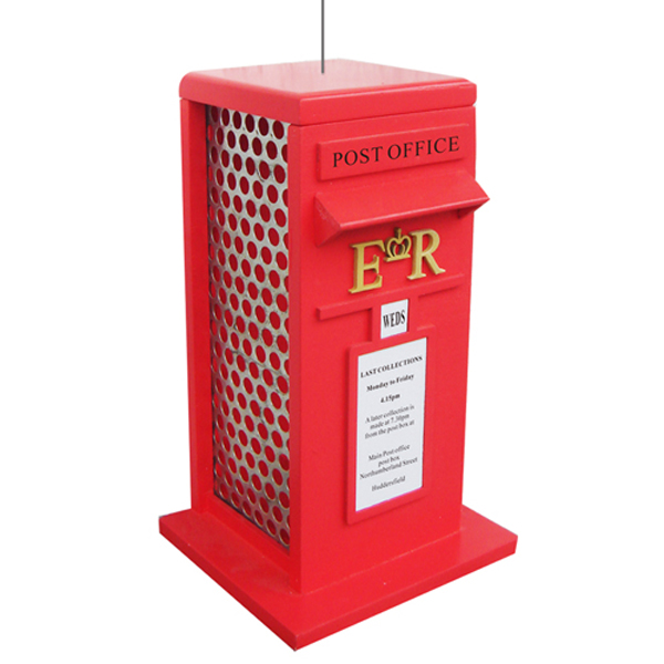 British Post Box Hanging Bird Feeder