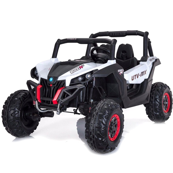White 24V Electric Ride on Buggy