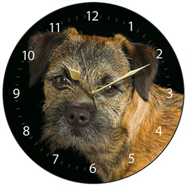 Border Terrier Dog Wall Clock