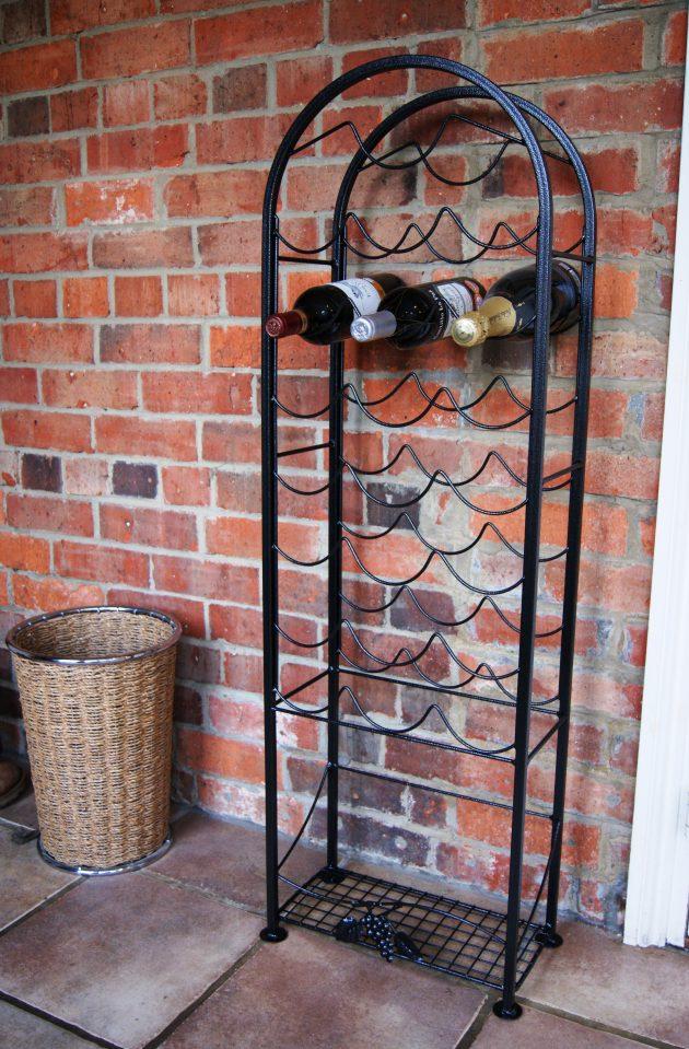 Solid Steel 22 Bottle Wine Rack-0