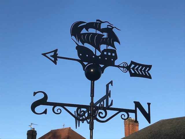 Galleon Ship Weathervane -0