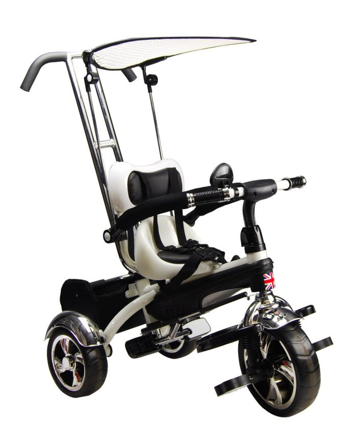 Children's 4-in-1 Tricycle - White-0