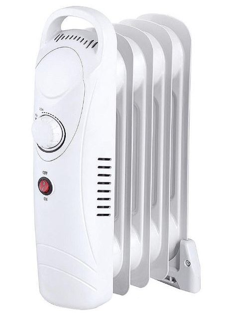 5 Fin 650W Oil Filled Heater - White-0