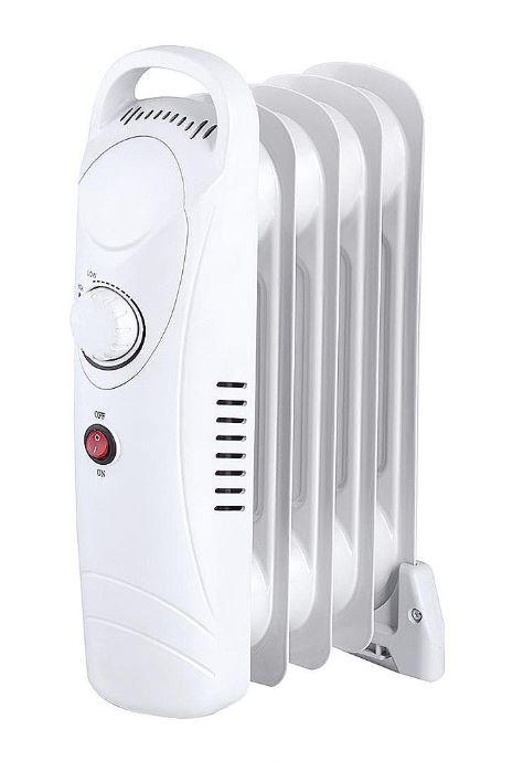 5 Fin 650W Oil Filled Heater - White-0