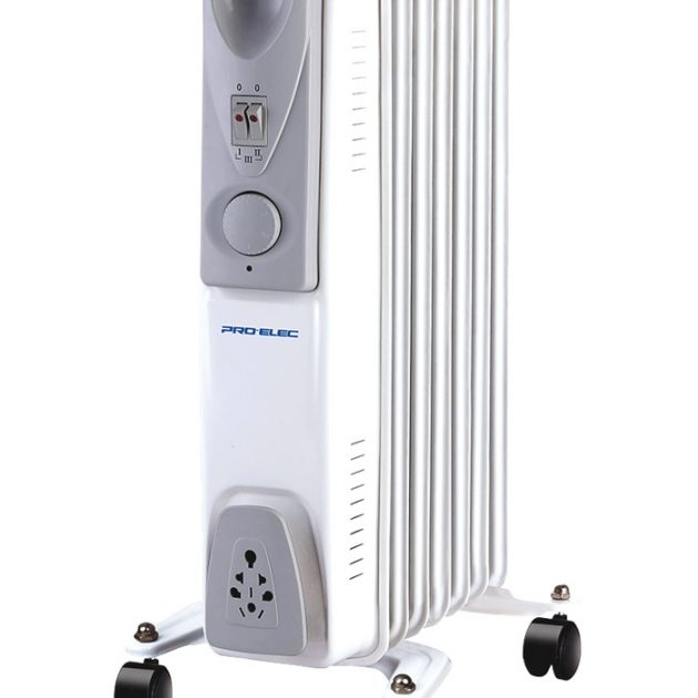 7 Fin 1.5kW Oil Filled Radiator Heater - White -0