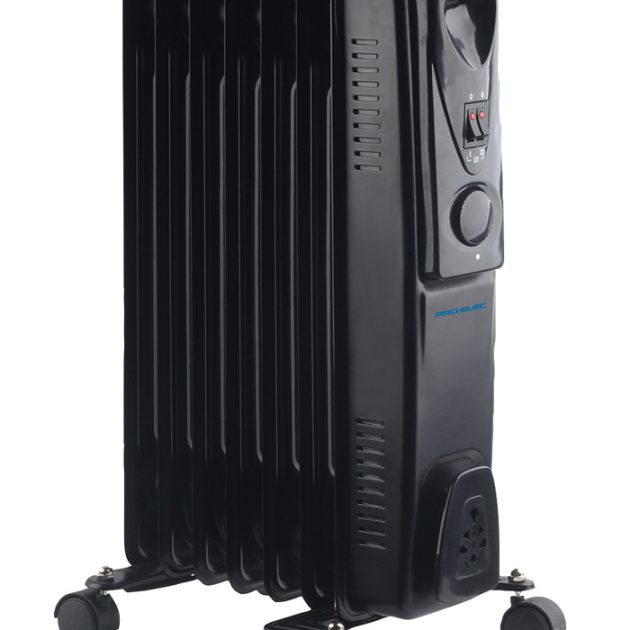 7 Fin 1.5kW Oil Filled Radiator Heater - Black-0