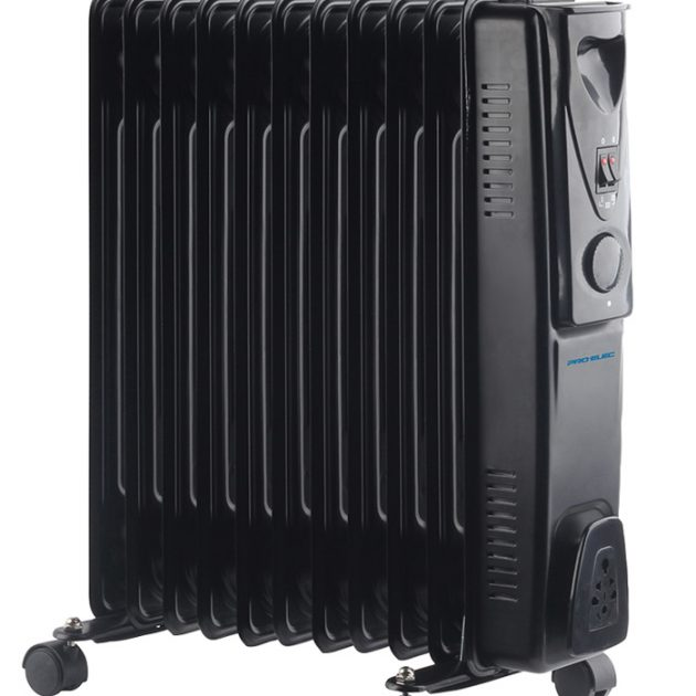 11 Fin 2.5kW Oil Filled Heater - Black-0