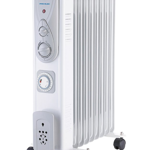 9 Fin 2kW Oil Filled Heater with Timer - White-0