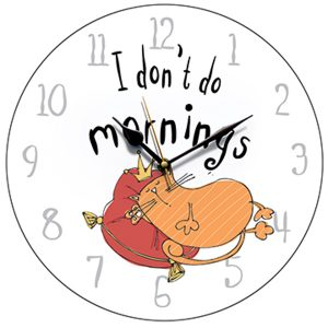 'I Don''I Don't Do Morning' Cat Wall Clockt Do Morning' Cat Wall Clock-0