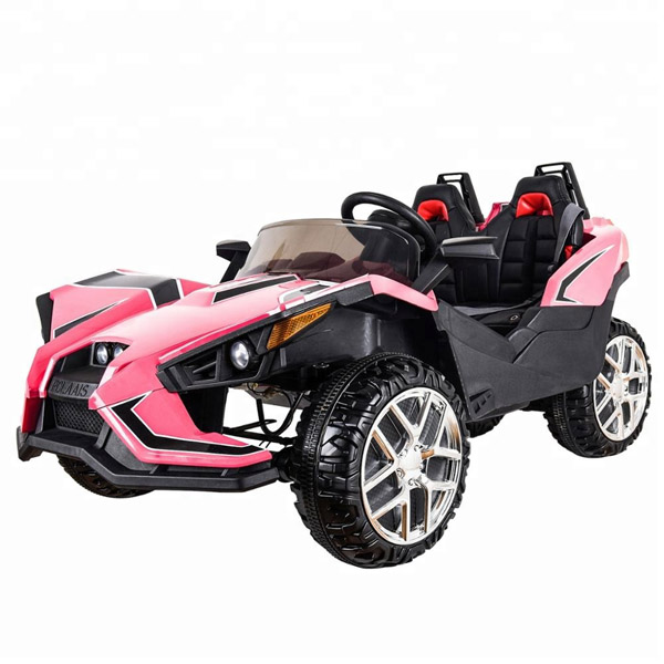 Polaais 12V Electric Ride on Buggy - Pink-0