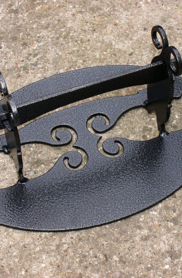 Victorian Style Solid Steel Boot Scraper - Black-0