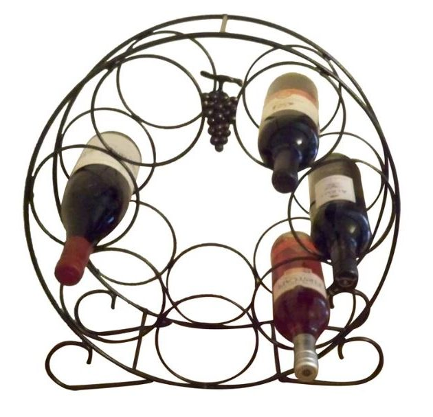 Solid Steel 7 Bottle Wine Rack-0