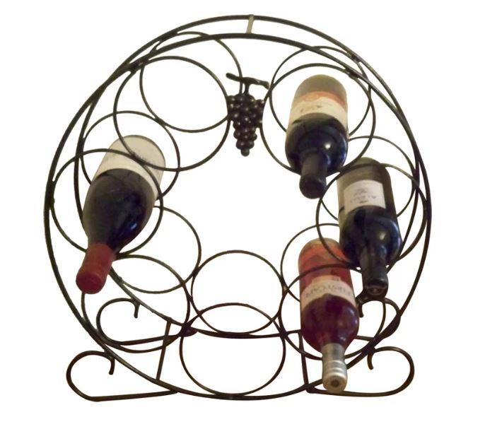 Solid Steel 7 Bottle Wine Rack-0