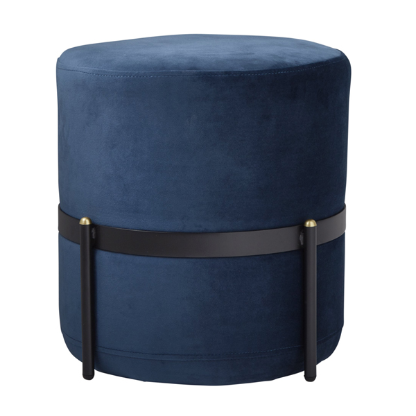 Mystique Blue Velvet Stilts Footstool