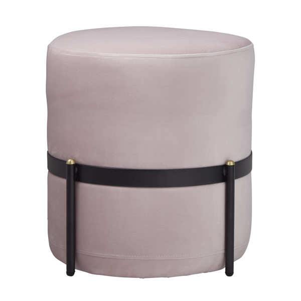 Pale Pink Velvet Stilts Footstool