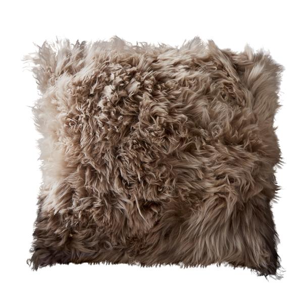 Light Brown Sheepskin Cushion -10096