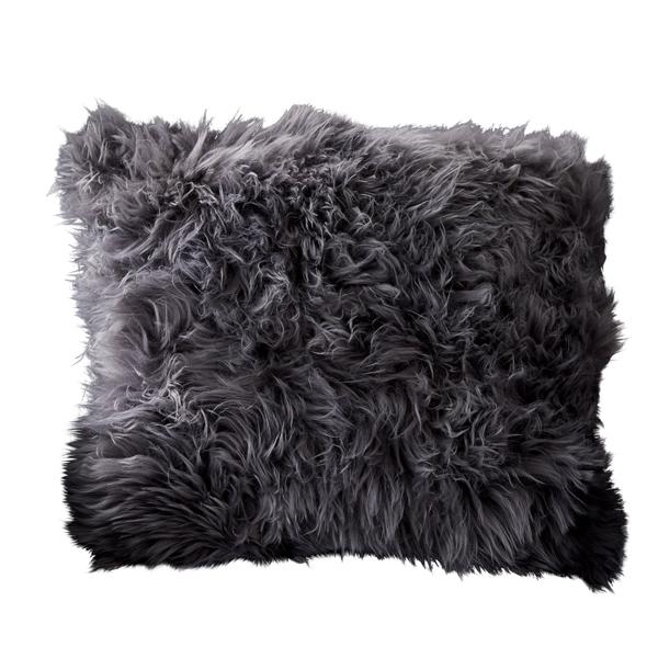Grey Sheepskin Cushion -10092