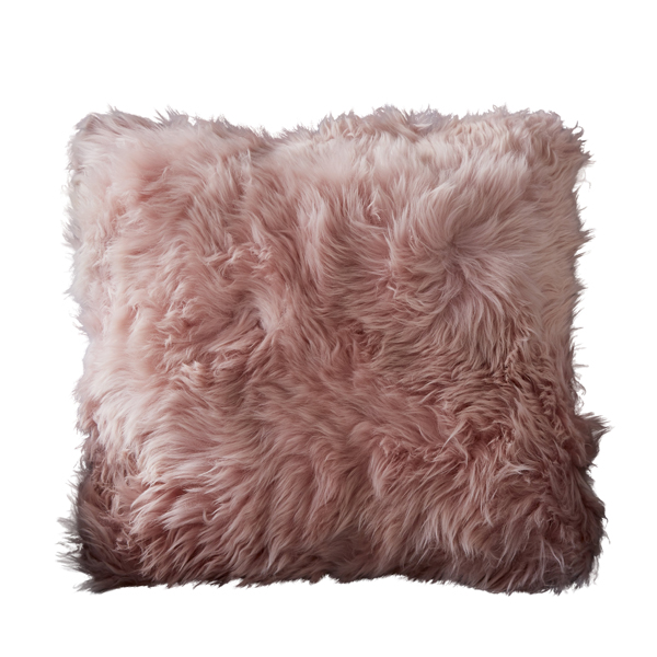 Blush Pink Sheepskin Cushion -10091