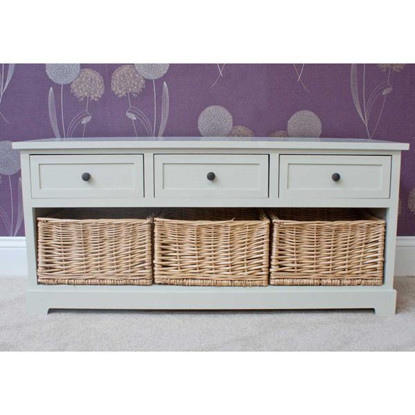 Casamoré Gloucester 3 Drawer 3 Basket Storage Bench_1