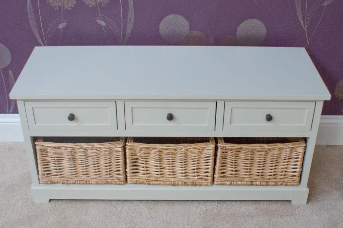 Casamoré Gloucester 3 Drawer 3 Basket Storage Bench_5