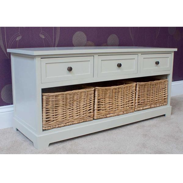 Casamoré Gloucester 3 Drawer 3 Basket Storage Bench_2
