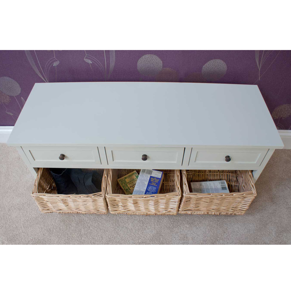 Casamoré Gloucester 3 Drawer 3 Basket Storage Bench_4