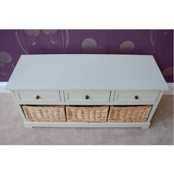 Casamoré Gloucester 3 Drawer 3 Basket Storage Bench_3