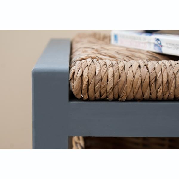 Gloucester 2 Drawer Storage Bench Slate Grey_12