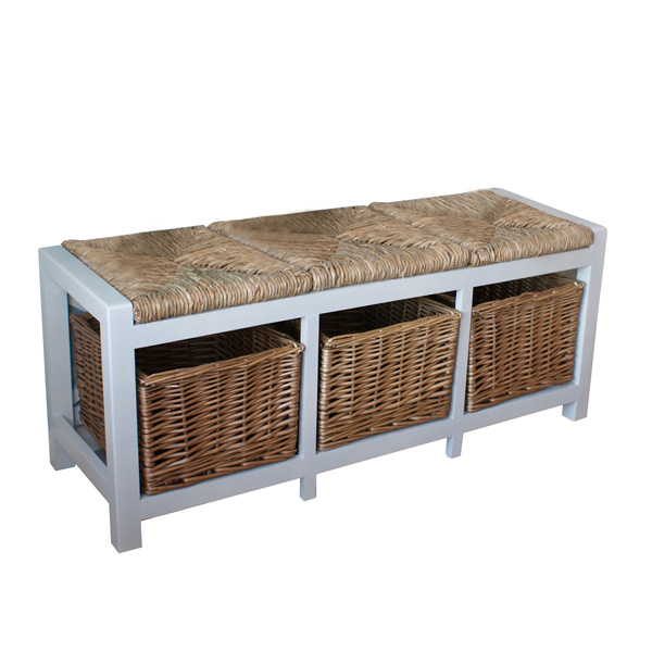 Gloucester 3 Seater Storage Bench
