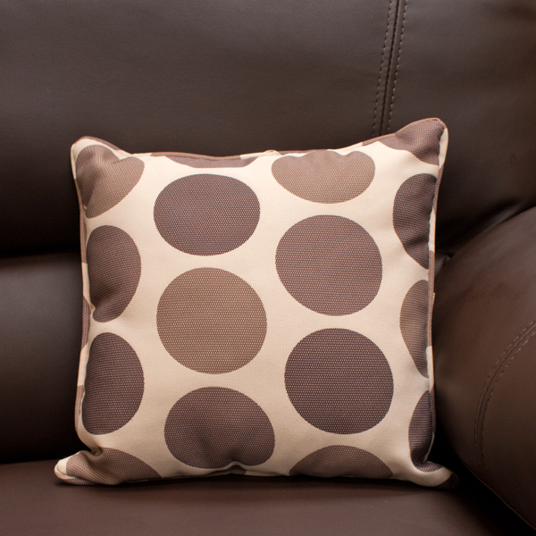 Cream Brown Polka Dot Scatter Cushion_1