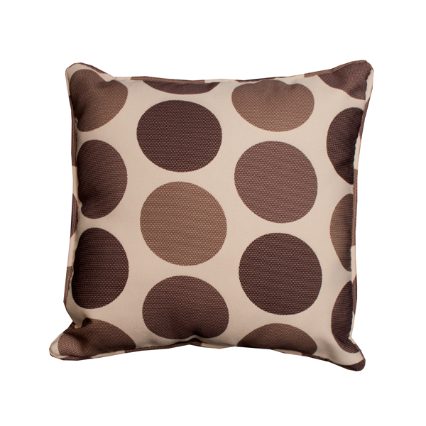 Cream Brown Polka Dot Scatter Cushion
