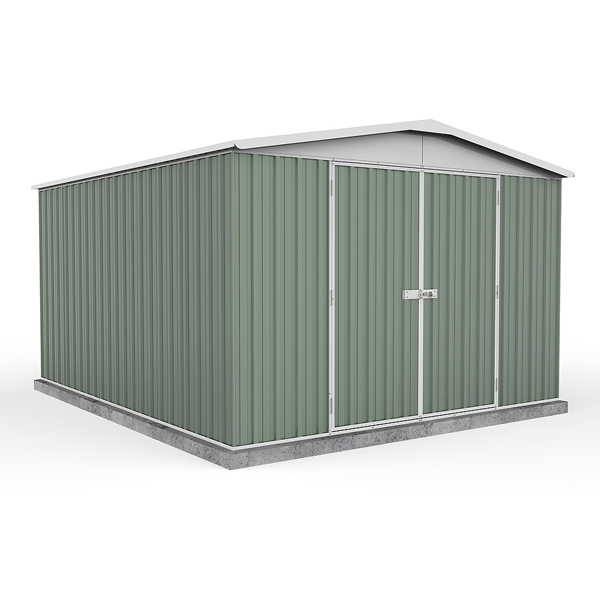 Space Saver Metal Shed 3m x 3.66m - Pale Eucalyptus Colour