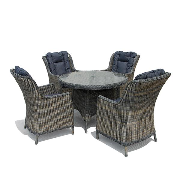 Casamoré Corfu Flint 4 Seater Round Dining Set