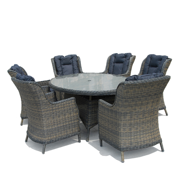 Casamoré Corfu Flint 6 Seater Oval Dining Set