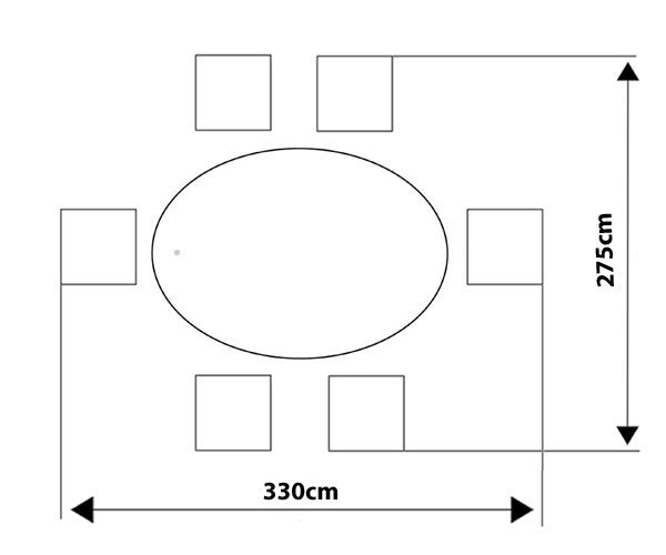 Casamoré Corfu Flint 6 Seater Oval Dining Set_1