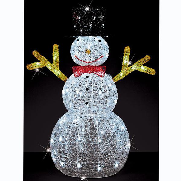 Snowman Decoration Christmas Light Sculpture