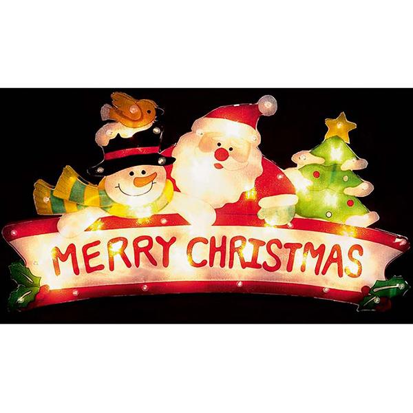 Santa Snowman Christmas Tree Silhouette