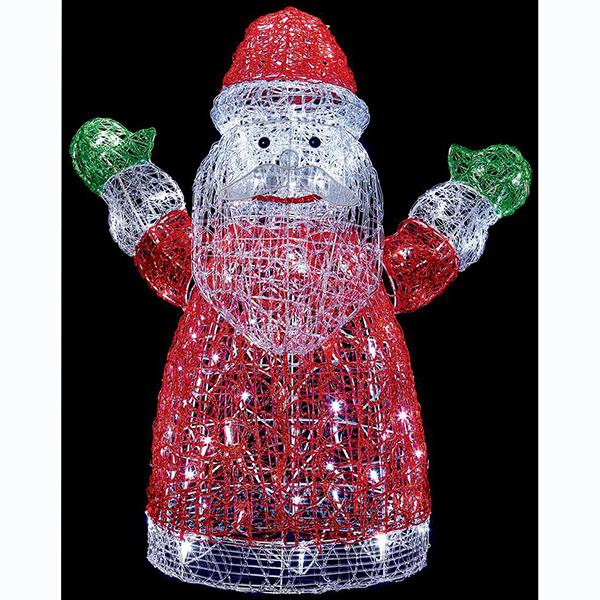 Santa Decoration Christmas Light Sculpture