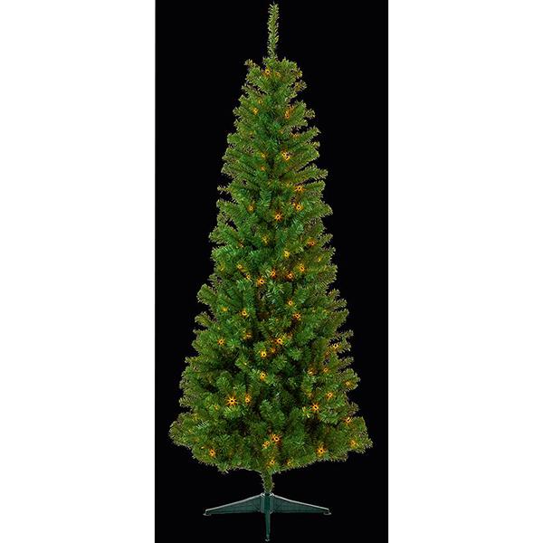 2.1m Pre-Lit Pine Christmas Tree
