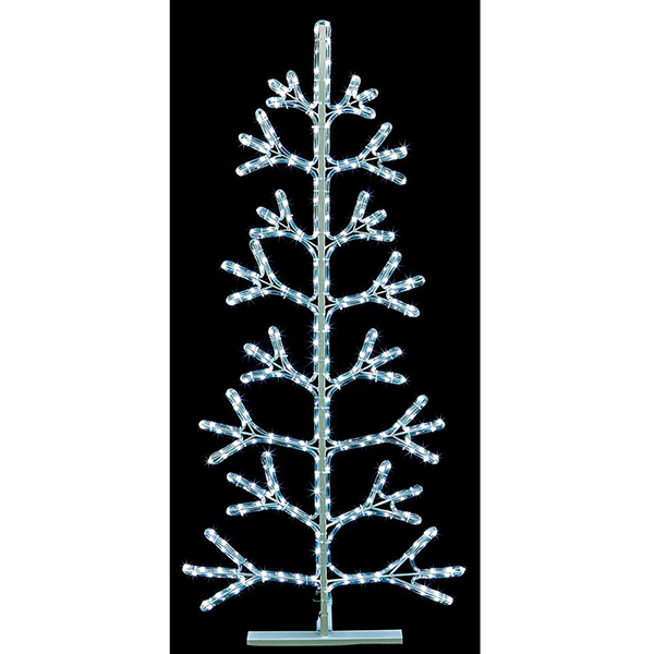 White Rope Light Christmas Tree