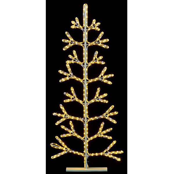 Warm White Rope Light Christmas Tree