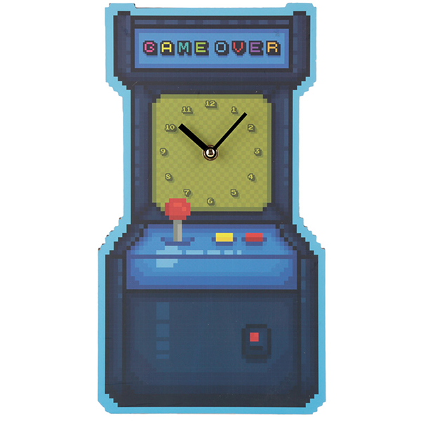 Retro Arcade Game Wall Clock