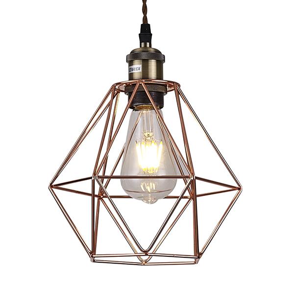 Copper Cage Ceiling Pendant Light