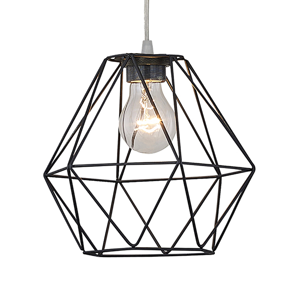 Black Cage Ceiling Pendant Light