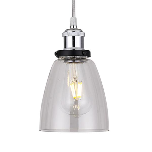 Clear Glass Tulip Lampshade